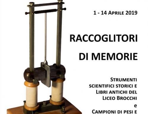 Mostra di strumenti scientifici storici e libri antichi del Liceo Brocchi 1-14 aprile 2019