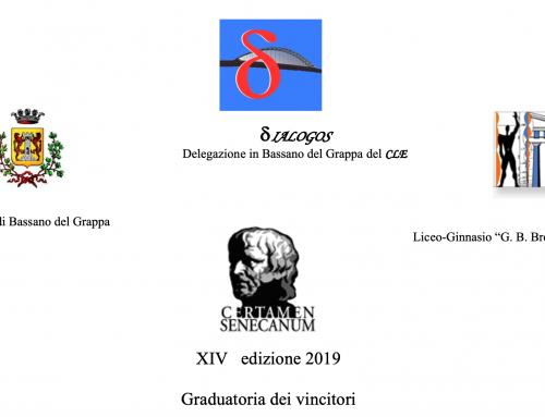 Vincitori Certamen Senecanum XIV edizione 2019