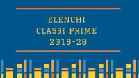 Elenchi classi prime 2019-20