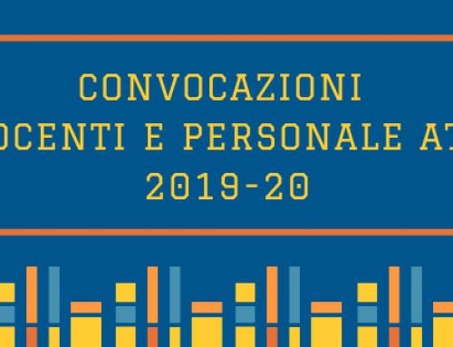 Convocazioni Docenti e Personale ATA a.s. 2019-20