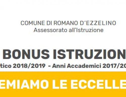 Bonus Istruzione – Romano d'Ezzelino