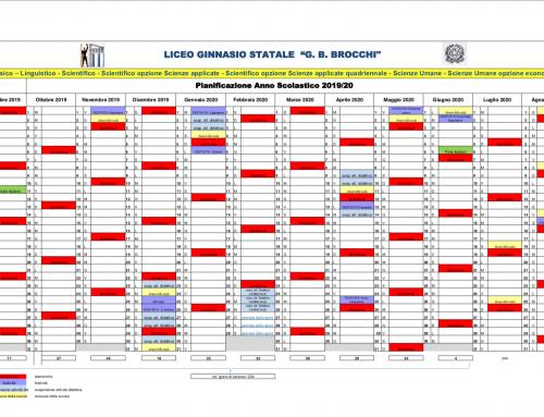 Calendario scolastico 2019-20