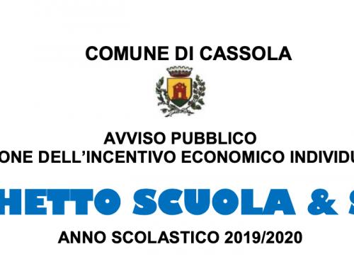 BANDI 2019-20 COMUNE DI CASSOLA