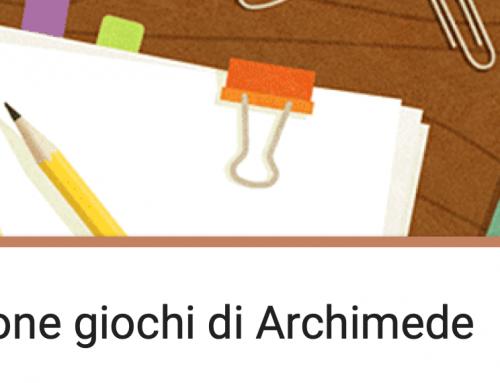 GIOCHI DI ARCHIMEDE 2019-20 Modulo di iscrizione