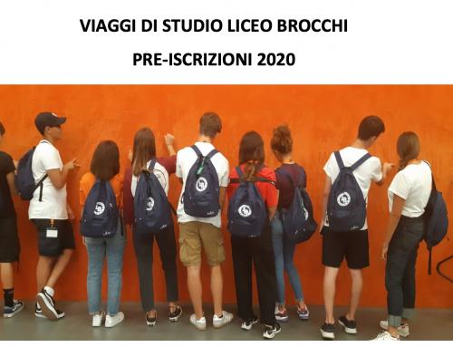 Viaggi di Studio del Liceo Brocchi 2020 PRE-ISCRIZIONI