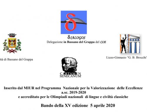 CERTAMEN SENECANUM XV edizione 2019-20