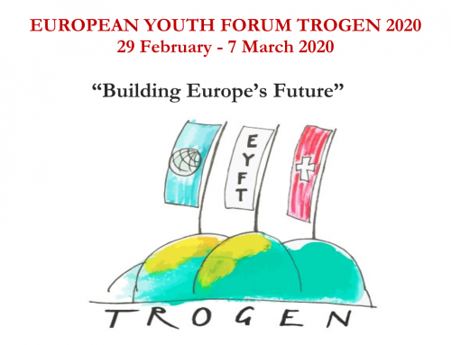 EUROPEAN YOUTH FORUM TROGEN 2020 – 29 February to 7 March 2020
