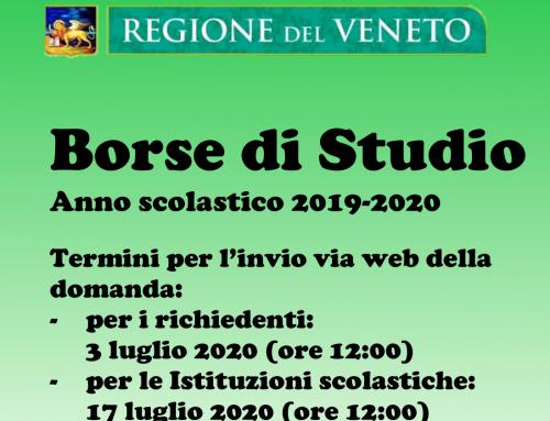 Regione Veneto Borse di Studio a.s. 2019-20