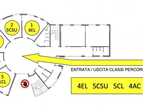 PIANTINE CLASSI E PERCORSI ENTRATE/USCITE