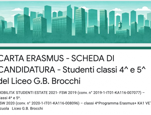 Carta Erasmus – Mobilità Studenti estate 2021