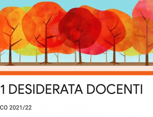 DESIDERATA ORARIO DOCENTI 2021-22